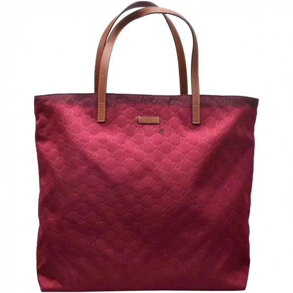 df9b2287832 Gucci Handbags - 💯Authentic Gucci Bordeaux Monogram Nylon Tote Bag